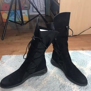 ARCHE France Nubuck/Leather mid-calf boot 8